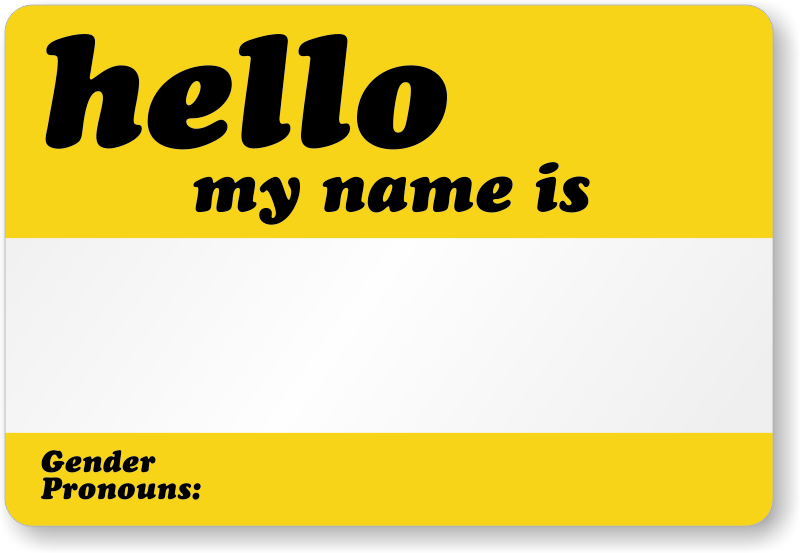 Hello My Name Is Gender Pronouns Label Sku Lb 2848