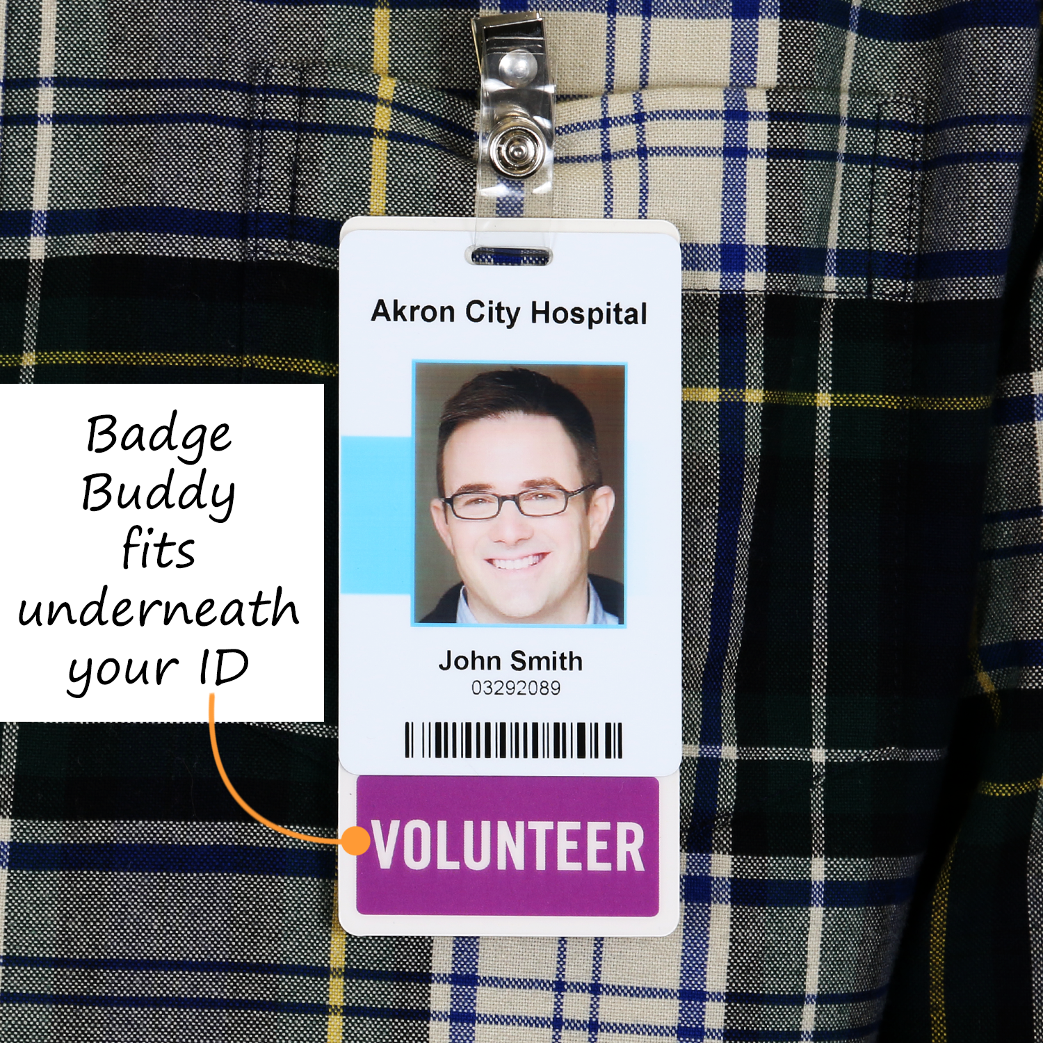 ER TECH Horizontal Badge Buddy with Black Border by Specialist ID Sold Individually