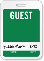 Guests Id Name Badge With Signature