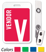 Vendor Reusable Id Name Badge
