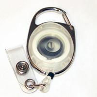 Badge Reel - Carabiner - Clear