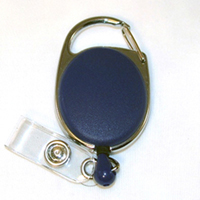 Badge Reel - Carabiner - Blue