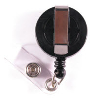 Economy Badge Reel, Clip-On - Black