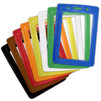 Vertical Badge Holder with Color Frame