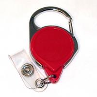 Badge Reel - No-Twist Carabiner - Red