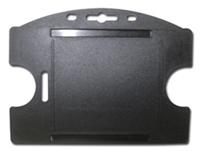 Single Card Holder, Vertical/Horizontal - Black