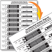 Confidential Visitor Sign-In Sheets Book