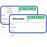 Custom Screened Non-Expiring Visitor Badges with Duplicates