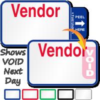 Tab-Expiring Vendor Labels Book