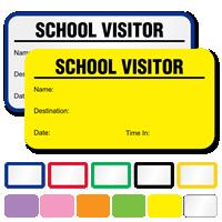 School Visitor Labels Book