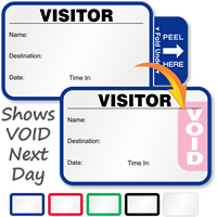 Time Expiring Small 1-Day Voiding Visitor Pass