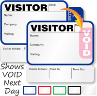 Small TAB-Expiring Visitor Passes Book