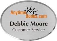 Oval Customizable Metal Name Badge