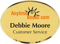 Oval Personalized Metal Name Badge
