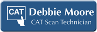 Customizable CAT Scan Technician LaserLogo Badge with Symbol