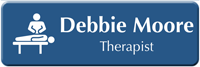 Create Therapist LaserLogo Medical Name Badge