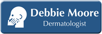 Customizable Dermatologist LaserLogo Name Badge with Dermatology Symbol