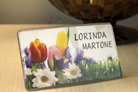 Custom Desk Stand Name Badge Contemporary Sign Kit