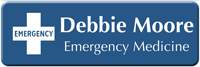 Customizable Emergency Medical Responder LaserLogo Badge with Symbol