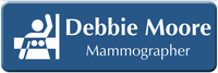 Customizable Mammographer LaserLogo Badge with Breast Imaging Symbol