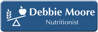Customizable Nutritionist LaserLogo Badge with Nutrition Balance Symbol