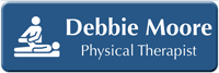 Customizable Physical Therapist LaserLogo Name Badge with Symbol