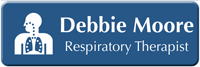 Customizable Respiratory Therapist LaserLogo Name Badge with Symbol