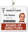 Board Of Directors Horizontal Id Cards Badge Buddy