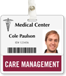 Care Management Badge Buddy For Horizontal Id Cards