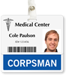 Corpsman Badge Buddy For Horizontal ID Cards