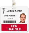 CPR Trained Badge Buddy For Horizontal ID Cards