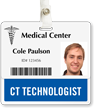 CT Technologist Badge Buddy For Horizontal Id Cards