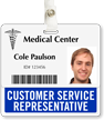 Customer Service Representative Horizontal Badge Buddy