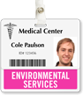 Environmental Services Horizontal Id Badge Buddies