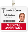 Medical Assistant Badge Buddy For Horizontal ID Cards