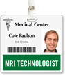 MRI Technologist Badge Buddy For Horizontal Id Cards