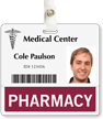Pharmacy Badge Buddy For Horizontal Id Cards