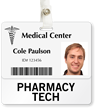 Pharmacy Tech Badge Buddy For Horizontal ID Cards