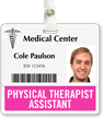 Physical Therapist Assistant Horizontal Badge Buddies
