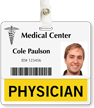 Physician Badge Buddy For Horizontal Id Cards