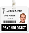 Psychologist Badge Buddy For Horizontal ID Cards