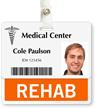 Rehab Badge Buddy For Horizontal ID Cards