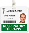 Respiratory Therapist Badge Buddy For Horizontal ID Cards