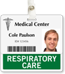 Respiratory Care Badge Buddy For Horizontal Id Cards