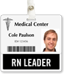 RN Leader Badge Buddy For Horizontal Id Cards