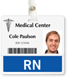RN Badge Buddy For Horizontal Identity Cards