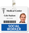 Social Worker Badge Buddy For Horizontal ID Cards