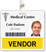 Vendor Badge Buddy For Horizontal Id Cards