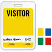 Visitor Name ID Badge with Signature