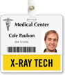 X-Ray Tech Badge Buddy For Horizontal Id Cards